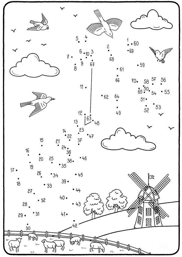 Zeichnen nach Zahlen 21