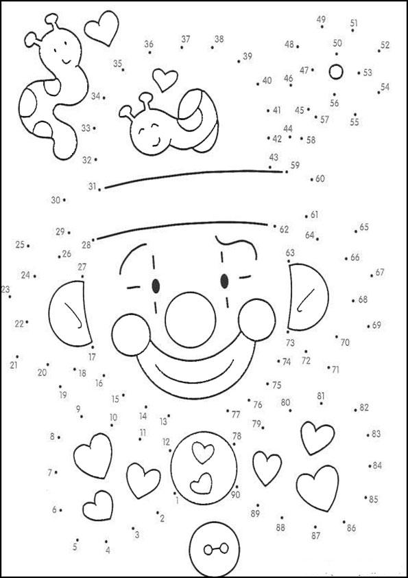 Ausmalbilder  Zeichnen nach Zahlen-48