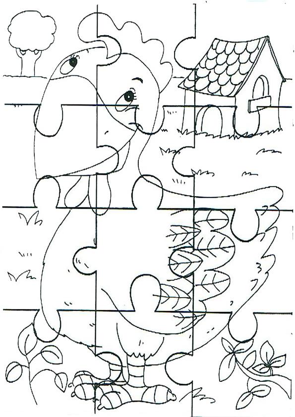 Ausmalbilde Puzzlespiele-6