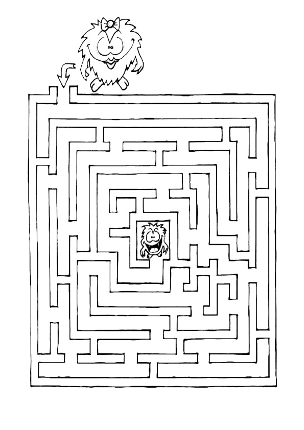 Ausmalbilde Labyrinthe-10