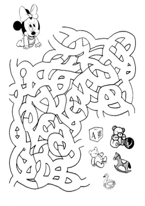 Ausmalbilde Labyrinthe-11