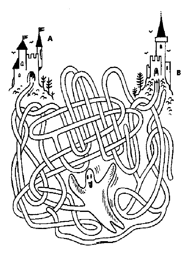 Ausmalbilde Labyrinthe-15