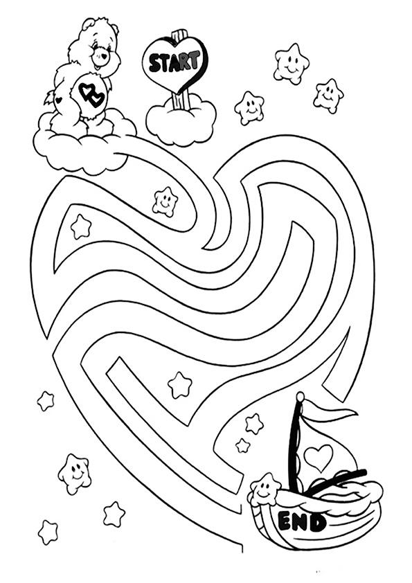 Ausmalbilde Labyrinthe-16