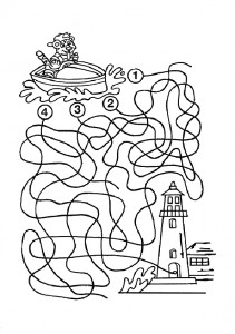 Ausmalbilde Labyrinthe-18