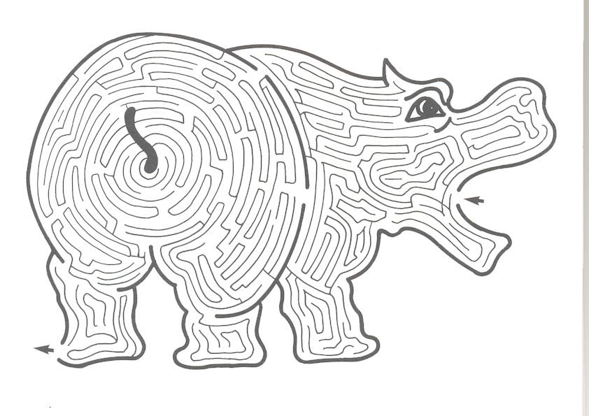 Ausmalbilde Labyrinthe-19