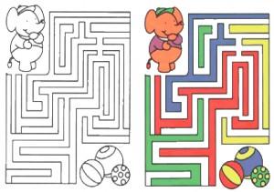 Ausmalbilde Labyrinthe-21