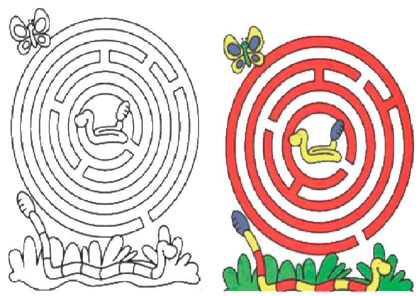 Ausmalbilde Labyrinthe-22