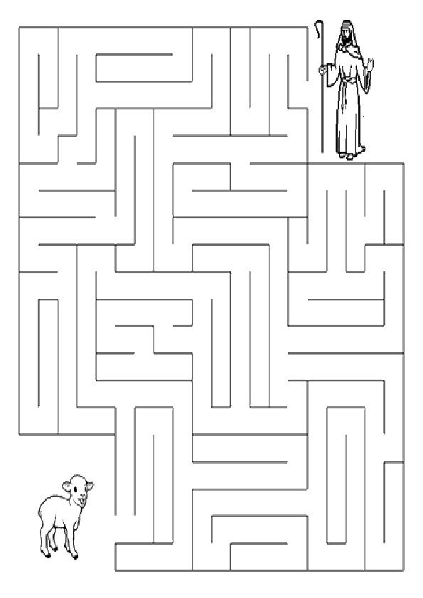Ausmalbilde Labyrinthe-26