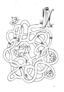 Ausmalbilde Labyrinthe-27