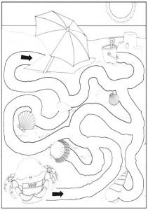 Ausmalbilde Labyrinthe-6