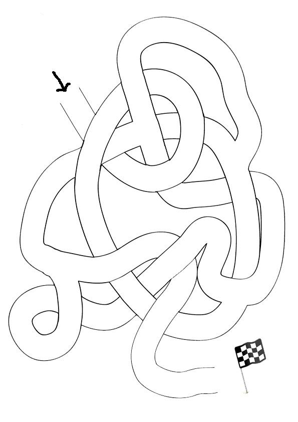 Ausmalbilde Labyrinthe-7