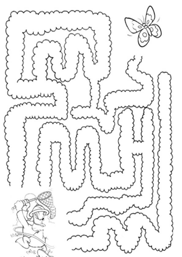 Ausmalbilde Labyrinthe, Malvorlagen Malen nach zahlen-9