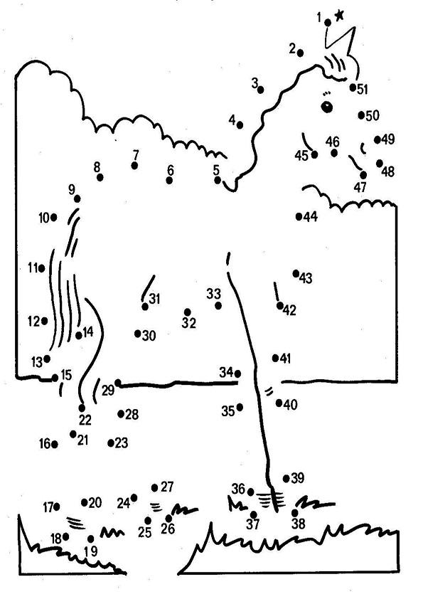 Ausmalbilder  Zeichnen nach Zahlen-58