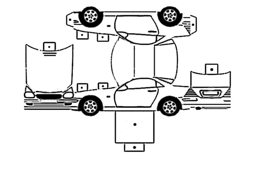 ausmalbilder ausschneiden auto- 2