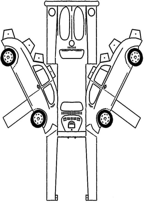 ausmalbilder ausschneiden auto- 3