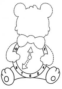 ausmalbilder ausschneider uhr- 1
