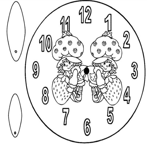 Fein Ausmalbilder Ausschneiden Uhr Zeitgenössisch - Malvorlagen ...