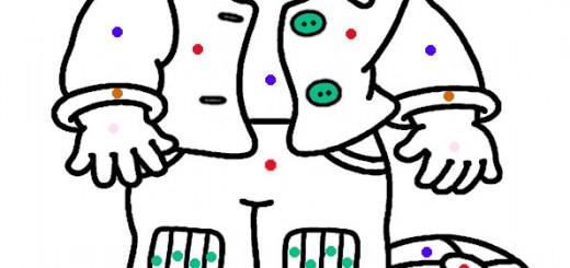 malen nach zahlen weihnachten, ausmalbilder weihnachten-6
